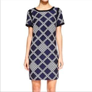 Trina Turk navy patterned short sleeve dress 8